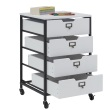 Studio Designs 10224-Charcoal/White - Sew Ready 4-Drawer Organizer ES8955