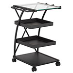 Studio Designs Triflex Metal 4 Shelf Mobile Taboret Cart - Charcoal - 13273 ET10715