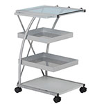Studio Designs Triflex Metal 4 Shelf Mobile Taboret Cart - Silver - 13274 ET10716