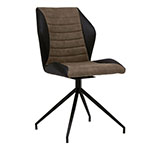 Studio Designs Gladstone Two-Tone Swivel Home Office Accent Chair with Black Metal 4-Star Base - 52000 ET10738