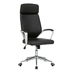 Studio Designs High Back Executive Chair with Padded Headrest and Arms in White and Black - 10662 ET10746