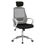 Studio Designs High Back Mesh Executive Chair with Headrest And Lumbar Support in White and Black - 10663 ET10747
