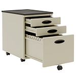 Studio Designs 3 Drawer Metal Mobile File Cabinet With Locking Drawers - Beige - 51104Box ET11156
