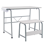 Studio Designs 2 Piece Project Center Includes Art Table With Paper Roll And Bench - Gray and Spatter Gray - 55128 ET11188
