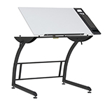 Studio Designs Triflex Standing Height Adjustable Drawing Table - Charcoal Black and White - 10098 ET11191