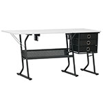 Studio Designs Sew Ready Eclipse Hobby Sewing Machine Table with Storage Shelf and Drawers - Black - 13362 ET12389