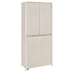 Studio Designs Sew Ready Craft/Multi-Room Storage Armoire with Table Top - White/Birch - 13375 ET12413