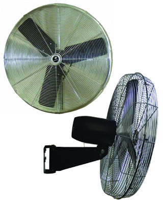 "TPI Corporation Commercial Circulator 24"" Wall Mount Oscillating Fan - CACU 24-W ES6469"