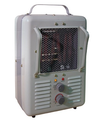 "TPI 188 Series 120 Volt ""Milk-House"" Style Fan Forced Portable Heater - 188 TASA ES6484"