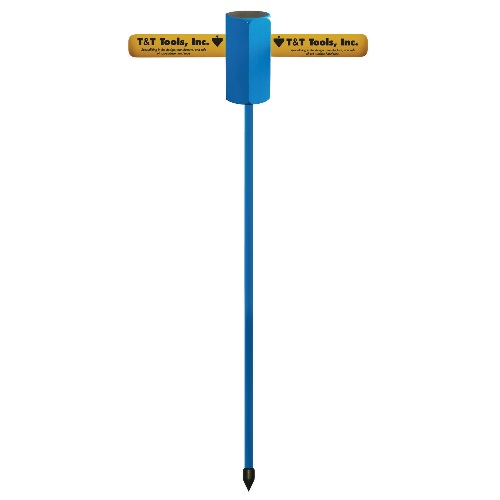 T&T Tools Heavy-Duty Striking Head Probe - 1/2 Round Rod (5 Sizes Available)