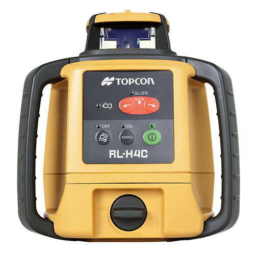 Topcon Self-Leveling Slope-Matching Rotary Laser Level RL-H4C RB (Rechargeable Battery Model 57176)