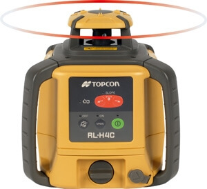 Topcon Self-Leveling Slope-Matching Rotary Laser Level RL-H4C DB (Alkaline Battery Model 57177)
