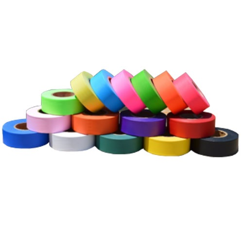 Trinity Tape Solid Flagging Tape - 12 Rolls Per Carton (16 Colors Available)