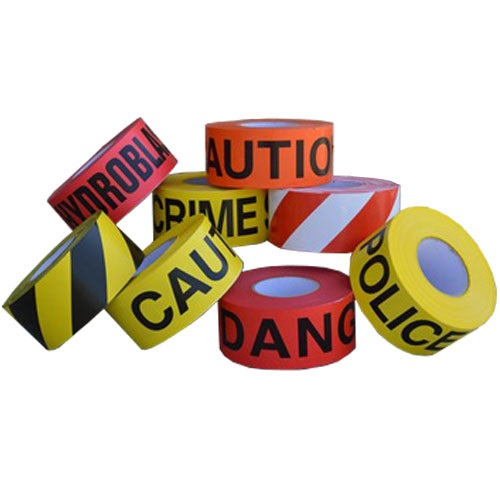 Trinity Tape 2 mil Safety Barricade Tape - 8 Rolls Per Carton (10 Options Available)
