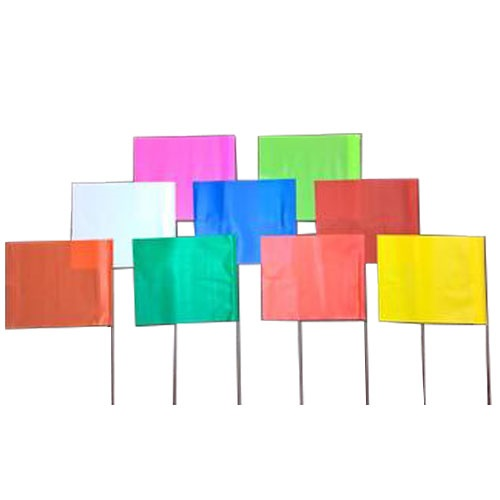 "Trinity Tape 4"" x 5"" Marking Stake Flags (13 Colors Available)"