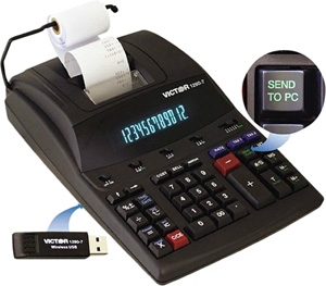 Victor Heavy-Duty Commercial Printing Calculator with Wireless Data 1280-7