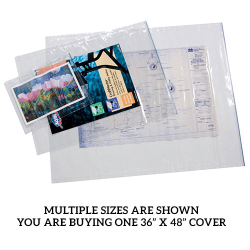 "Alvin 36"" x 48"" Clear Vinyl Blueprint Cover ACP48"