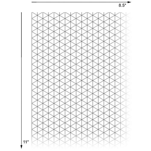 alvin isometric paper pad 8 5 x 11 no 1242 1 engineersupply