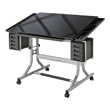 Alvin CraftMaster II Glass Top Deluxe Art & Drawing Table CM48GL ES4103