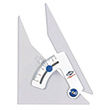 "Alvin Tru-Angle 6"" Adjustable Triangle 106C ES5110"