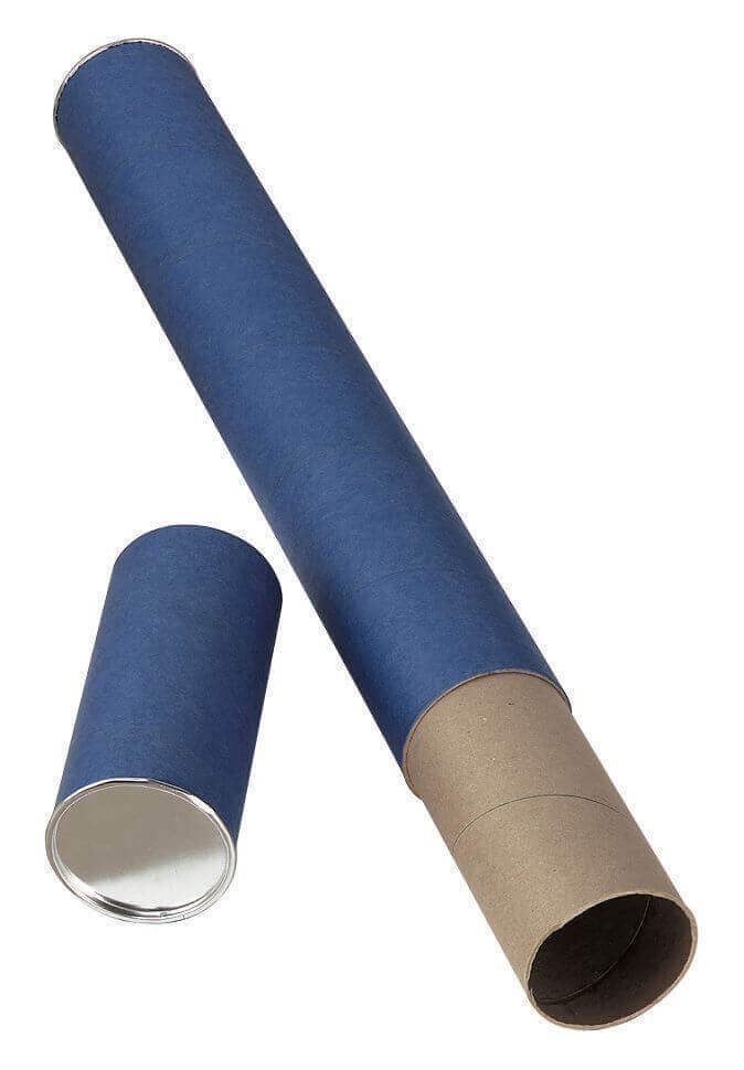 Alvin Blue Fiberboard Tubes Carton of 36 (4 Sizes available) ES5140