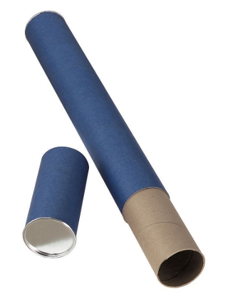 Alvin Blue Fiberboard Tubes Carton of 36 ES5140
