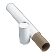 Alvin White Fiberboard Blueprint Mailing Storage Tubes Carton of 24 (4 Sizes available) ES5141