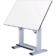 "Alvin Elite Table with White 36"" x 48"" Top and White Base ET48-4 ES5350"