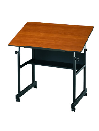 Alvin MiniMaster Table Black Base with Woodgrain Top MM36-3-WBR ES5351