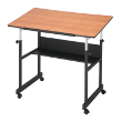 Alvin MiniMaster II Table Black Base with Woodgrain Top MM40-3-WBR ES5352