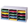 Fellowes Smart Stack 12 Compartment Literature Organizer FEL25004 ES5354