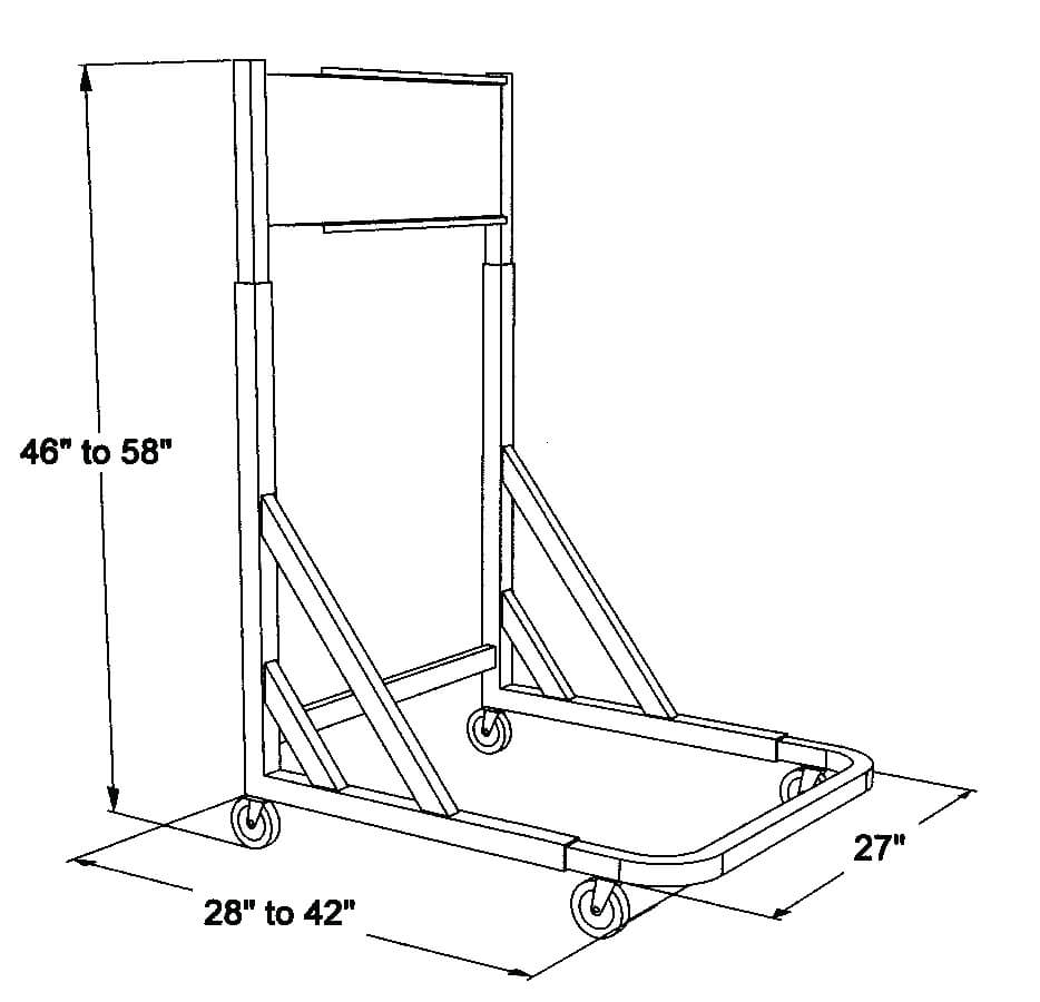 Alvin Mobile Pivot Rack for Blueprints BPR026 ES5362