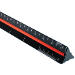 "Alvin 98 Series 12"" Black Aluminum Architect Triangular Scale 98/ARC ES5373"