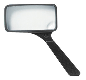 "Alvin Ultraoptix 2x/6x 2"" x 4"" General Purpose Magnifying Glass SVXP ES5382"