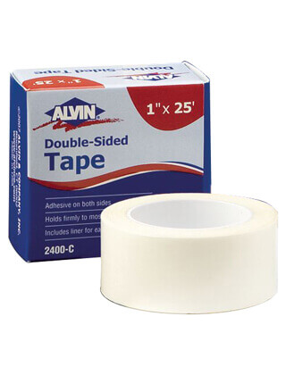 Alvin Double-Sided Tape 1 x 25 feet (Item No 2400-C) ES5675