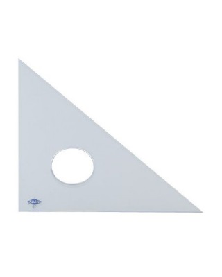 Alvin Clear Professional Acrylic Triangle - 45-45-90 (9 Sizes Available) ES6834