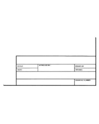Alvin 6855-B-8 - Alva-Line Tracing Paper with Title Block and Border - 100-Sheet Pack - 24 x 36 ES6933