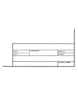 "Alvin 6855/B-XO-8 - Alva-Line Tracing Paper with Title Block and Border 10-Sheet Pack 24"" x 36"" ES6967"