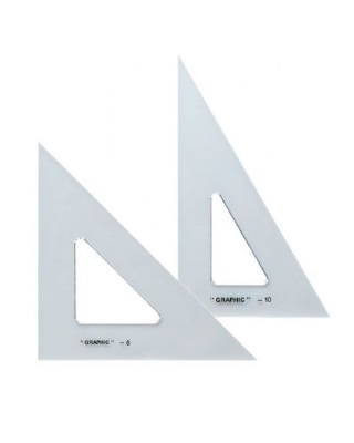 Alvin AS810 - 8 Inch and 10 Inch Transparent Triangle Set ES6989
