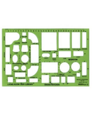 Alvin TD714 - House Furnishing Design Template ES7161