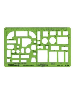 Alvin TD1155 - Home Furnishings Drafting Template ES7167