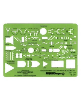 Alvin TD1279 - Electric/Electronic Drafting Template ES7168