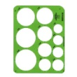 Alvin TD1201 - Large Circles Drafting Template ES7170