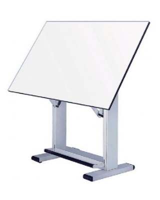 "Alvin ET60-4 - 37.5"" x 60"" Elite Table - White Base, White Top ES7243"