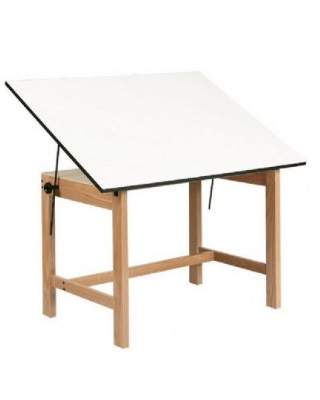 Alvin Wob48 36 X 48 30 Titan Solid Oak Drafting Table
