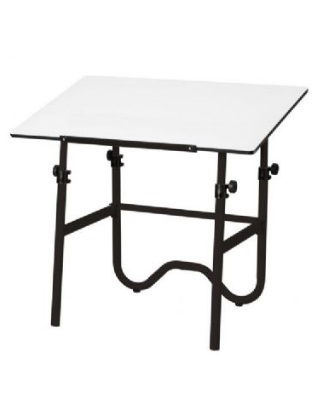 Alvin ONX36-3 - 24 x 36 Onyx Table - Black Base, White Top ES7253