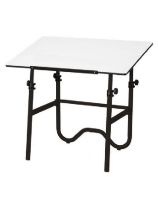 Alvin ONX42-3 - 30 x 42 Onyx Table - Black Base, White Top ES7254