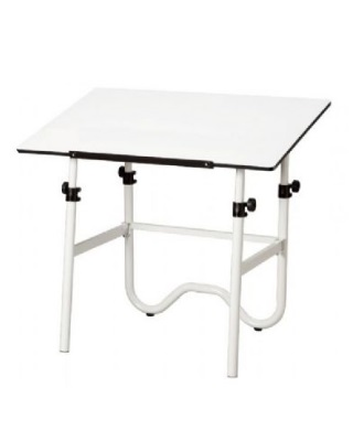 Alvin ONX40-4 - 28 x 42 Onyx Table - White Base, White Top ES7257