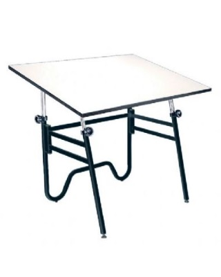 Alvin OP36-3 - 24 x 36 Opal Table - Black Base, White Top ES7258