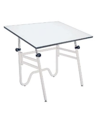 Alvin OP48-4 - 36 x 48 Opal Table - White Base, White Top ES7264